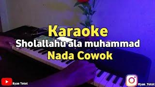 karaoke - Sholallahu ala muhammad Nada cowok Versi Santri Njoso