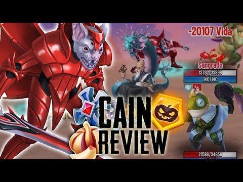 CAIN (LV 130) REVIEW - INCREIBLE ATACANTE de FUEGO!! - Monster Legends