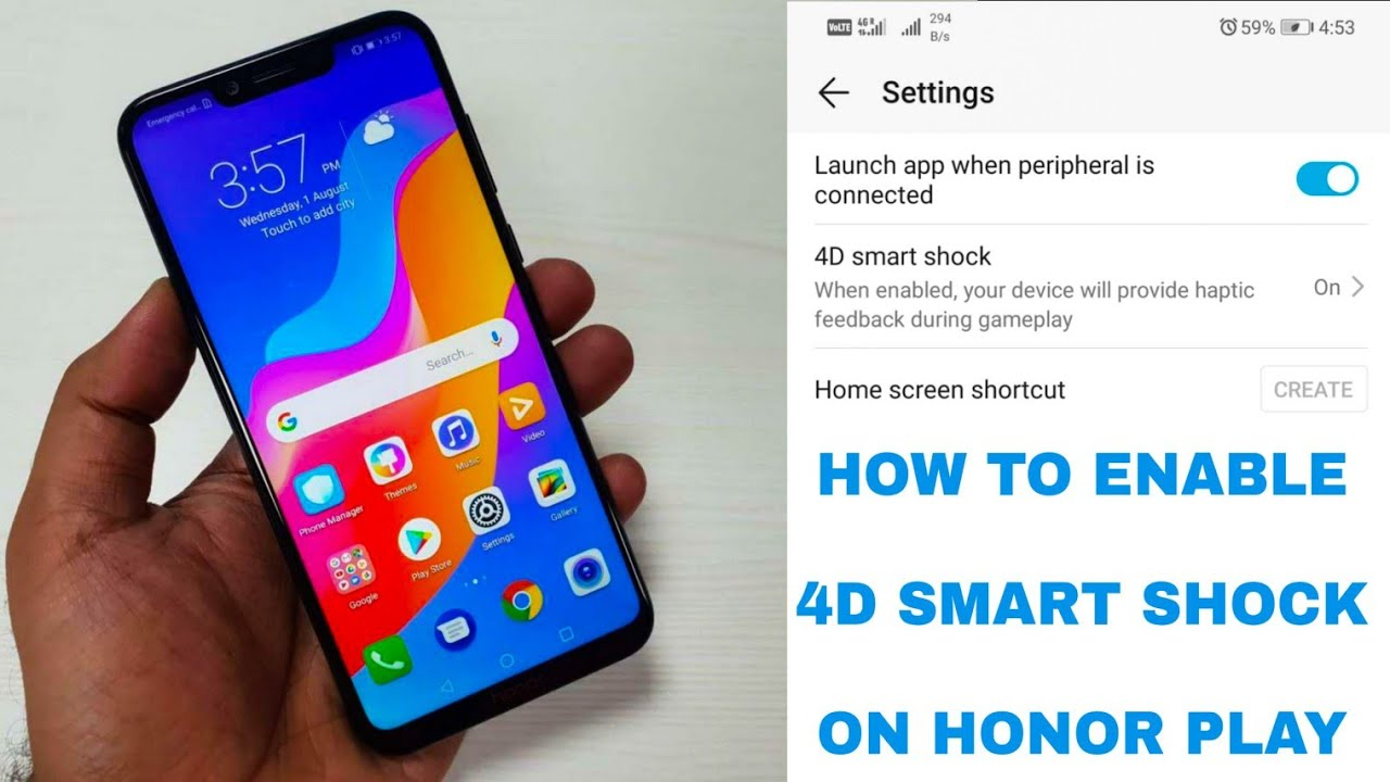 How To Enable 4D Gaming Smart Shock || Honor Play | After Android Pie Update