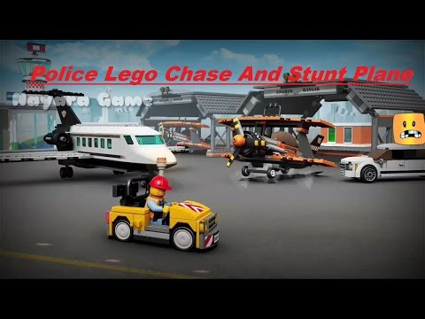 Lego Police Chase Recently Robbers And Jet Plane Stunt
