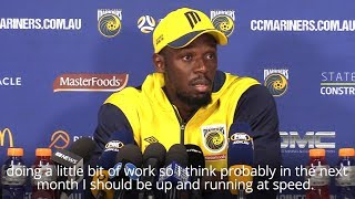 Usain Bolt Determined To Reach Top Speed For Central Coast Mariners