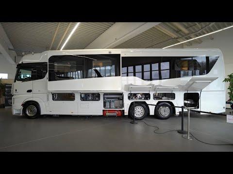 Größte Wohnmobile der Welt: Concorde Centurion 1200 Mercedes Benz Actros Giga Liner. Made in Germany