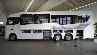 Largest mobile homes in the world: Concorde Centurion 1200 Mercedes Benz Actros Giga Liner.