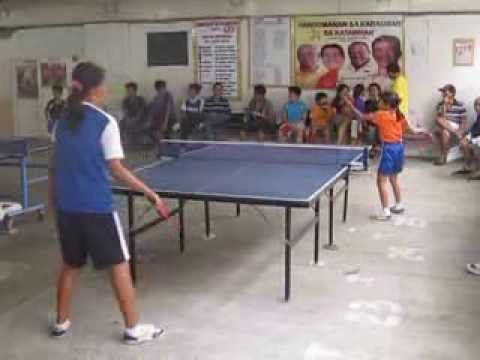 9 year old girl table tennis prodigy in Cagayan de Oro, Philippines