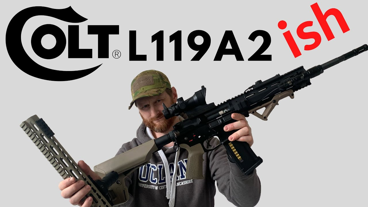 Converting An M4 Into An L119a2 Angry Gun L119a2 Build Youtube
