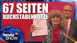 Mandy Hausten von der Linkspartei zerrupft den Programmentwurf der SPD | heute-show vom 19.05.2017