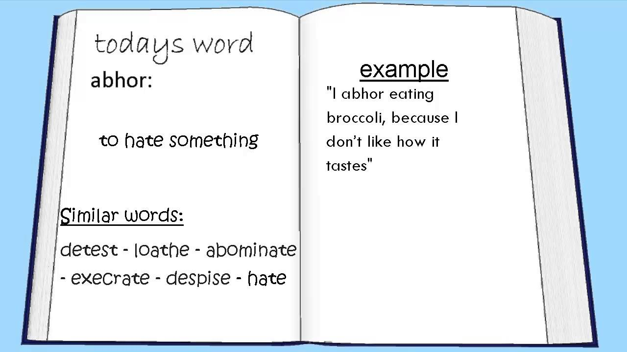 how to use abhor in a sentence