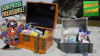 SURPRISE TOYS in treasure chest found pirates for kids LEGO Playmobil Minions blind bags