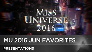 Miss Universe 2016 June Predictions