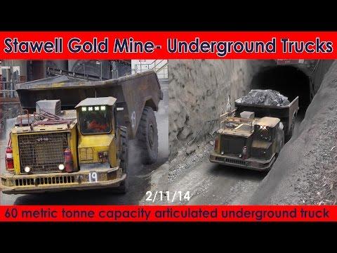 Stawell Gold Mine - Articulated Underground Trucks - 60 metric tonne capacity - Australian Trucks
