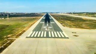COCKPIT TIMELAPSE: B737 landing at Palma de Mallorca Airport