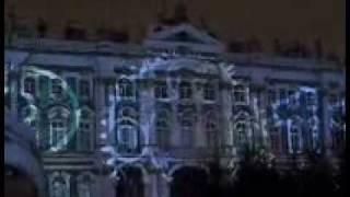 Лазерное шоу на Дворцовой в Питере 03.01.2011г/ St. Petersburg