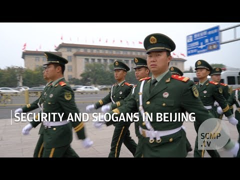 Security and Slogans in Beijing ahead 19th Party Congress