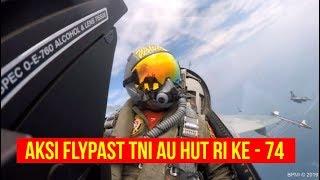 Aksi FLYPAST HUT RI Ke 74 Oleh TNI AU Dengan F 16 dan T 50i
