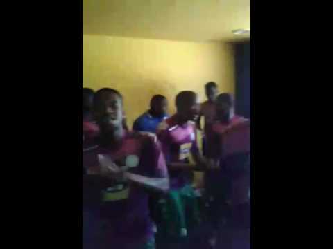 Bloem Celtic's players singing