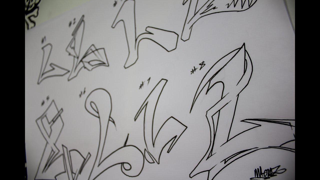 Graffiti alphabet practicando la letra l
