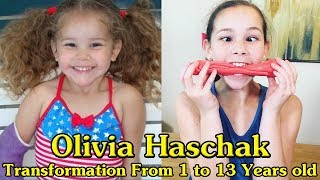 Olivia Haschak transformation from 1 to 13 years old