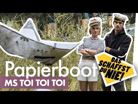 Papierboot bauen – schwimmt das Ding? Kliemannsland + DSDN testen riesen Papierboot