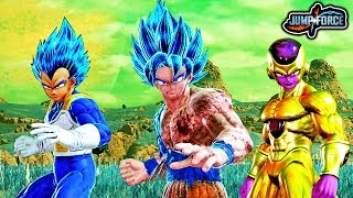 jump force how to transform into god forms super saiyan blue golden frieza gameplay