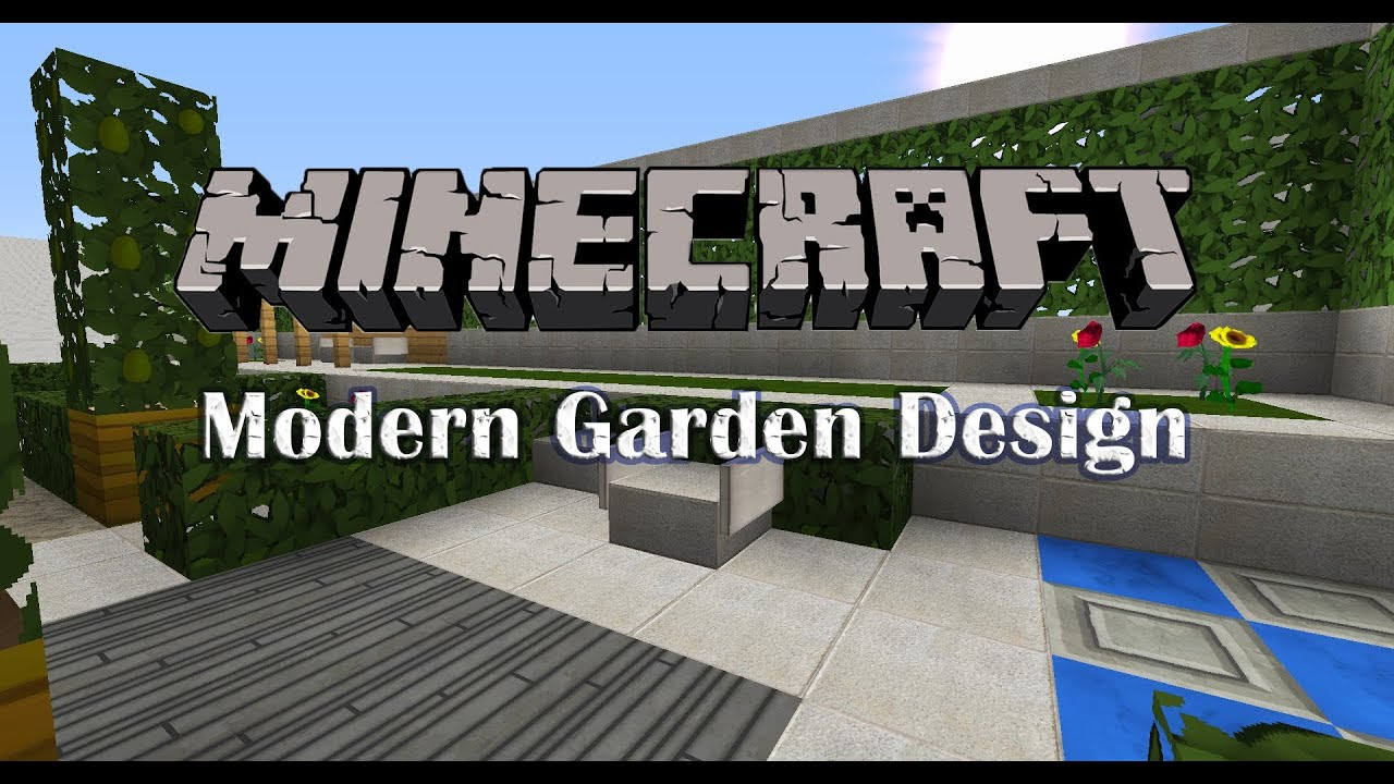 minecraft garden design - episode 1 - youtube