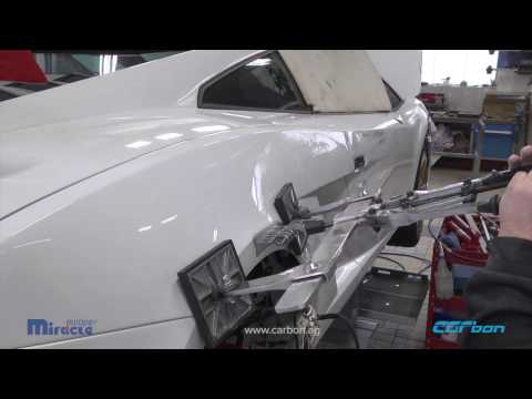 Side panel repair on a Lamborghini Gallardo
