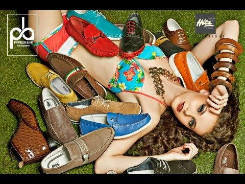 Advertising shoot for International  HITZ Shoe Brand by fashion photographer Praveen Bhat