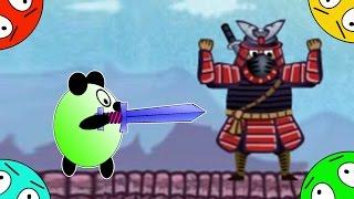 🐾 Четыре панды #8! Битва с Ниндзя! Мультик Игра. Новый мультфильм про Японию.