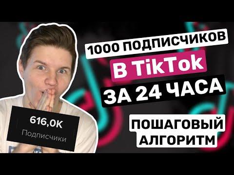 Первая 1000 подписчиков в Тик Ток за 24 часа! ПОШАГОВЫЙ АЛГОРИТМ!