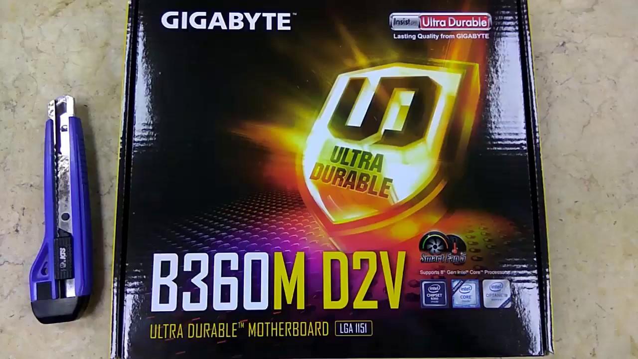 Gigabyte B360M D2V Coffee Lake Motherboard Unboxing 8th Gen | Tech Land