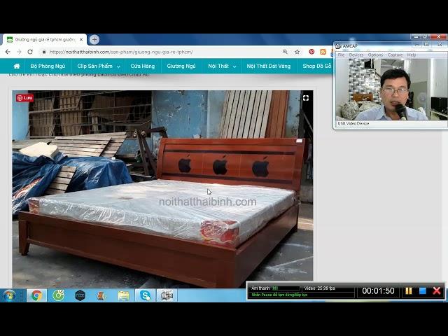 Giường Ngủ Giá Rẻ Tphcm MS 9645 - giao hàng tận nơi.