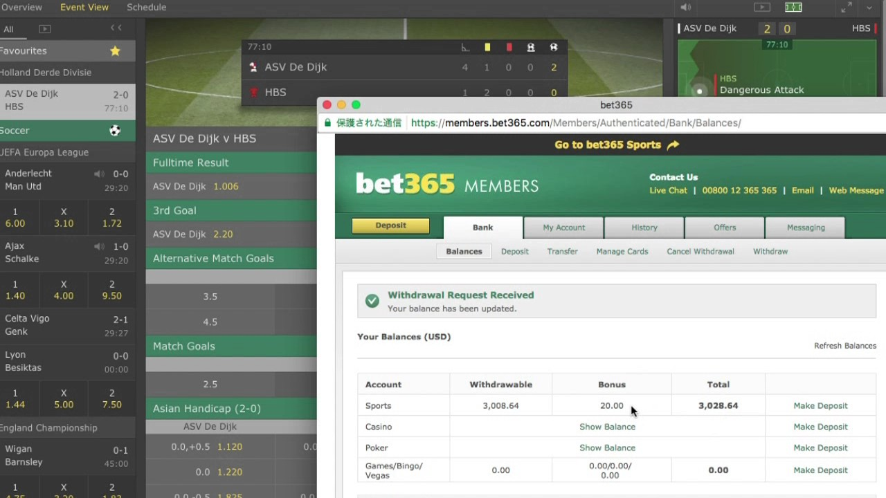 Withdraw Bet365