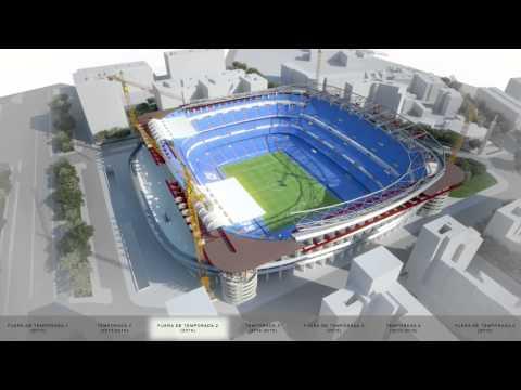 """Estadio RMCF """"Santiago Bernabéu"""" Construction Process"""