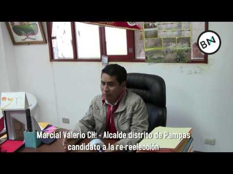 Marcial Valerio alcalde del distrito de Pampas, Pallasca