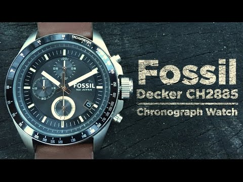 Fossil Decker CH2885 Unboxing and Full Walkthrough