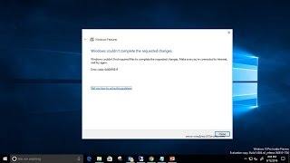 Fix 0x800F0906 and 0x800F081F Error Messages While Installing  NET Framework 3 5 in Windows 10 and 8