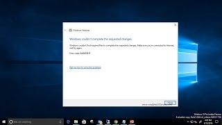 How to fix Windows 10 windows update error code 0x800f081f
