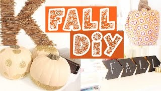 Easy & Cute Fall/ Halloween Diys + How To Make Your Room Cozy For Fall