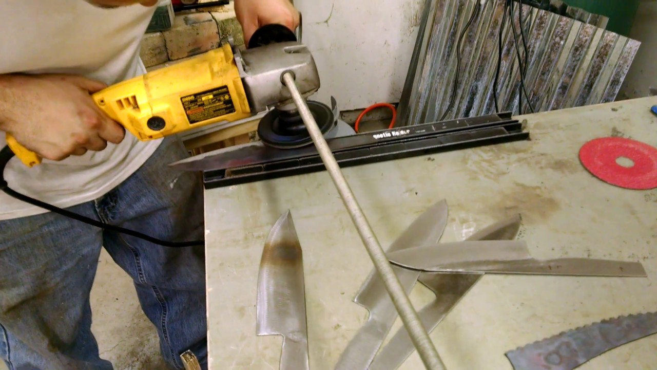 Angle Grinder Jig For Knife Making Youtube