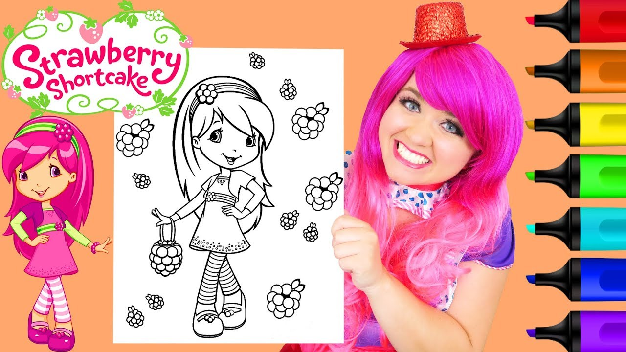 Coloring Strawberry Shortcake Raspberry Torte Coloring Page Prismacolor  Markers | KiMMi THE CLOWN