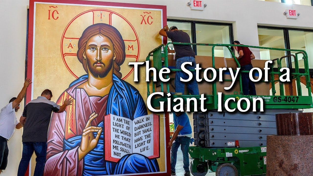 The Story of a Giant 12 Foot Icon–Monastery Icons