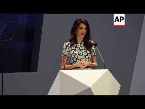 Amal Clooney speaks at 5th ICGF in Sharjah
