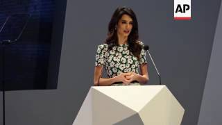 Amal Clooney speaks at 5th ICGF in Sharjah