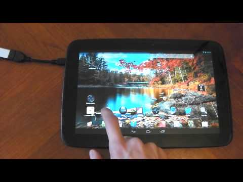Nexus 10 - OTG cable - Tests - HD