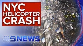Pilot killed after crashing Manhattan skyscraper   Nine News Australia