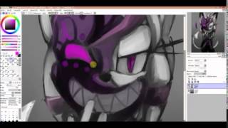 SpeedPaint   Psyoi the devil  SAI paint Tool
