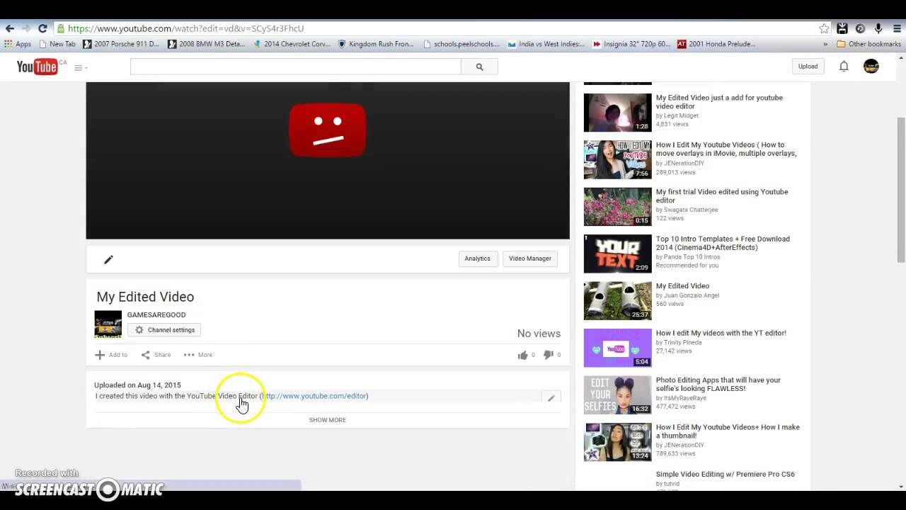 How To Add Your Intro To Youtube Videos Fastest Easiest Way