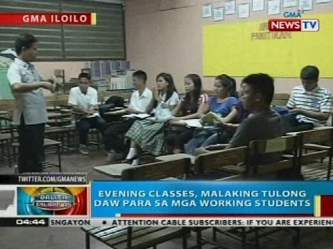 BP: Evening classes, malaking tulong para sa mga working students