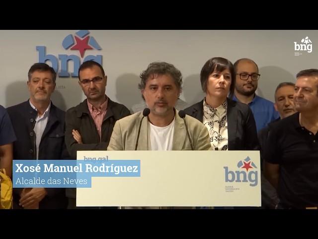 Xosé Manuel Rodríguez, alcalde das Neves, valora o Plan de Transporte da Xunta