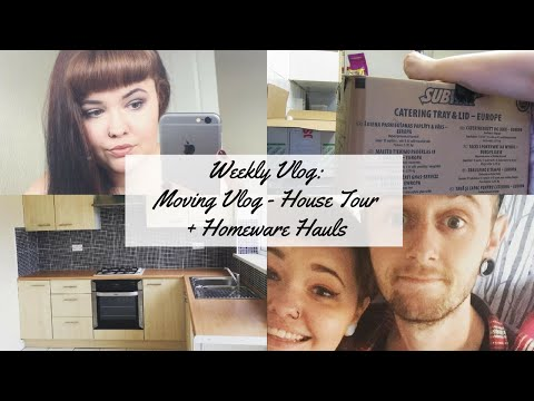 Weekly Vlog 36 - Moving Vlog: House Tour + Homeware Hauls // kateyhayward