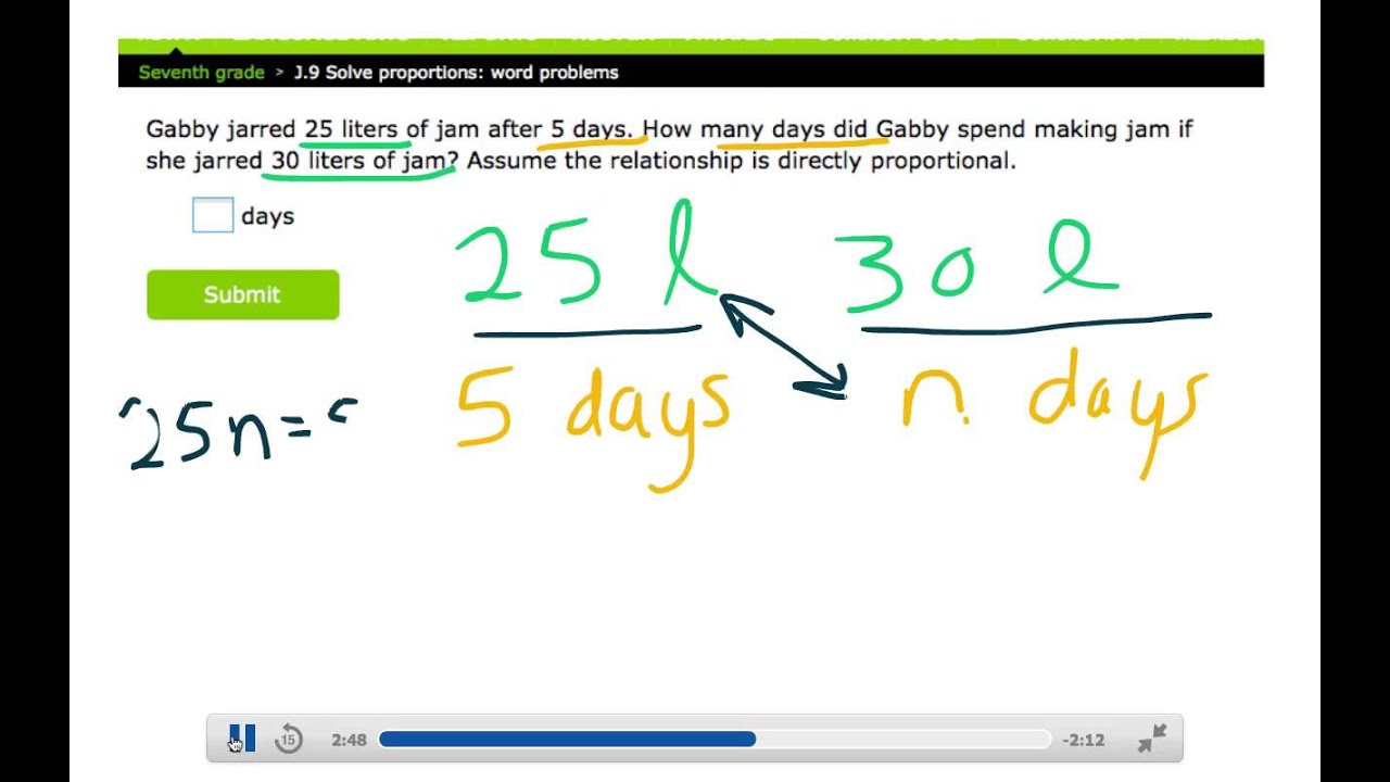IXL Grade 7 J 9 Help Notes - YouTube